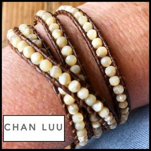 Chan Luu Wrap Leather Bracelet with Pearls. 🆕